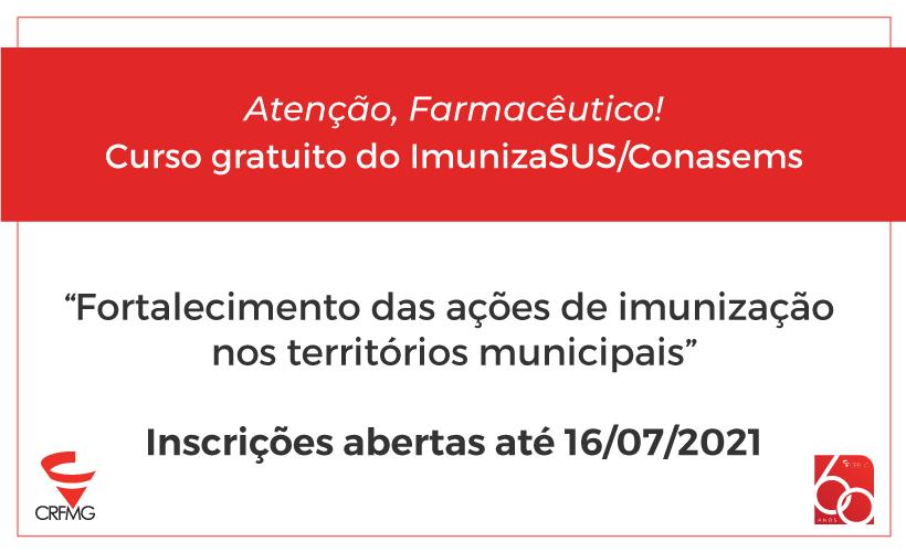 Inscrições abertas para curso gratuito de vacinação pelo ImunizaSUS/Conasems